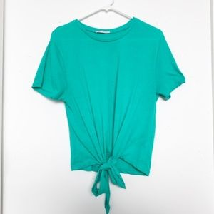Zara Tie Front Every Day Tee